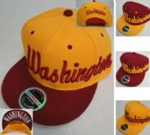 Snap Back Flat Bill Hat [Washington] Script