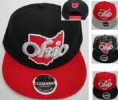 Snap Back Flat Bill Hat [State of Ohio] Script