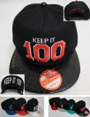 Snap Back Flat Bill Hat [KEEP IT 100] Textured Bill
