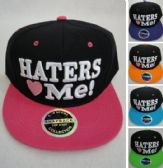 Snap Back Flat Bill Hat [Haters ♥ Me]