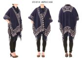 Ladies Poncho in Navy Blue