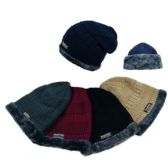 Insulated Knitted Slouch Beanie with Plush Lining [MultiStitch]