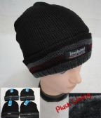 Insulated Knitted Winter Hat [Striped Fold] Plush Lining