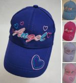 Girl's Embroidered Ball Cap [Angel]