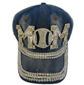 Denim Hat with Bling *Silver [Baseball MOM]