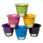 Planter Bamboo 7.25x5.5 Fluted Biodegradable 6colors L&g Label