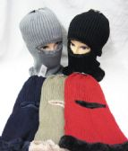 Winter Ski Mask Faux Fur lined Assorted Colors
