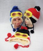 Kids Winter Hat With Goggles