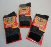 Mens Heat Warmer Brushed Thermal Socks