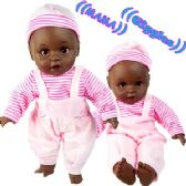 Ethnic Baby Dolls With/ Sound