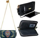 Montana West Phone Charging Sugar Skull Collection Clutch NAVY