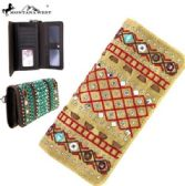 Montana West Tribal Collection Wallet Tan