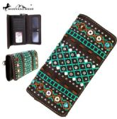 Montana West Tribal Collection Wallet Coffee
