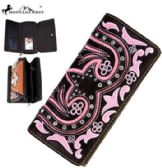 Montana West Bling Bling Collection Wallet Coffee Pink