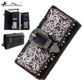 Montana West Buckle Collection Wallet Coffee