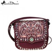Montana West Concho Collection Crossbody Bag Cut Out Pattern