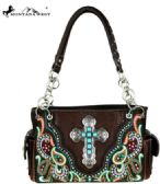 Montana West Spiritual Collection Satchel Coffee