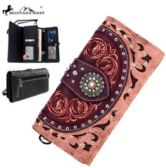 Montana West Concho Collection Wallet Pink