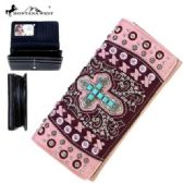 Montana West Spiritual Collection Secretary Style Wallet Pink