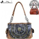 Montana West Concho Collection Concealed Handgun Satchel Gray