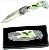 "7.25"" BoneEdge Eagle Folding Knife With BOX"