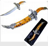 "Fantasy Medieval 14"" Brown Eagle Mongolian Dagger"