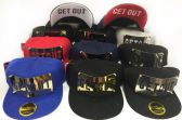 Snap Back Flat Bill Get Out Metal Assorted Colors Hat