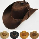 Suede Like Cowboy Hat Rope Band