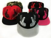 Snap Back Flat Bill Middle Fingers Assorted Colors