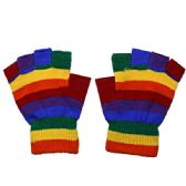 Fingerless Rainbow Glove
