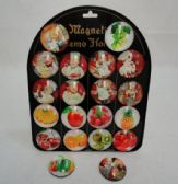 """2"""" Round Dome Magnets [Fruits & Kitchen]"""
