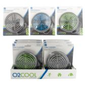 """Fan 3.5"""" USB Powered Portable 3 Assorted Colors Carded 8pc Counter Display"""