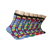 Women's Stained Glass Print Crew Socks