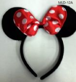 EAR HEAD BAND IN MINNIE MOUSE RED