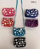 GIRL COIN PURSES ASSORTED COLOR IN POLKA DOT