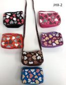GIRL COIN PURSES ASSORTED COLOR IN HEARTS