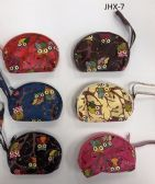 GIRL COIN PURSES ASSORTED COLOR OWLS