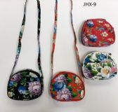 GIRL COIN PURSES ASSORTED COLOR FLOWERS