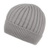 MEN'S CABLE BEANIE WITH SHERPA FLEECE LINING