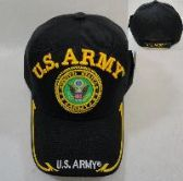 LICENSED US ARMY [SEAL] BALL CAP *BLACK ONLY