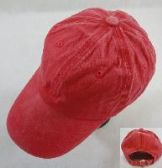 WASHED COTTON BALL CAP [RED]