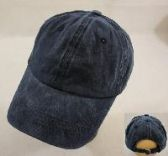 WASHED COTTON BALL CAP [NAVY]