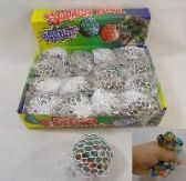 MESH SQUISH BALL WITH WATER BEADS