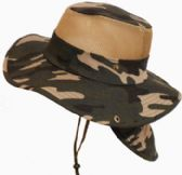 Camouflage Mesh Hat With/ Back Flap
