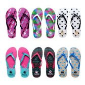 Womens Flip Flops Assorted Abstract Pattern