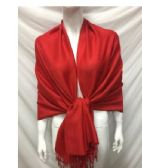 LADIES FASHION SCARVES IN RED