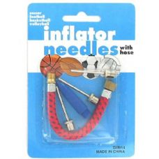 Inflating needles with hose