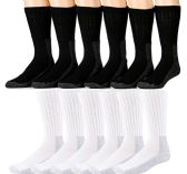 Yacht & Smith Mens Steel Toe Socks, Thick Boot Sock, Size 10-13