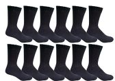 6 Pair Of excell Mens White Diabetic Neuropathy Socks, Edema, Loose Fitting (Black)