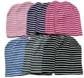 12 Womens Winter Beanies, Assorted Striped Colorful Hat, Skull Cap, by excell